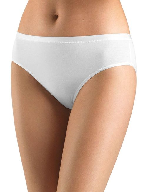 Hanro | White Soft Touch High-cut Brief | Lyst