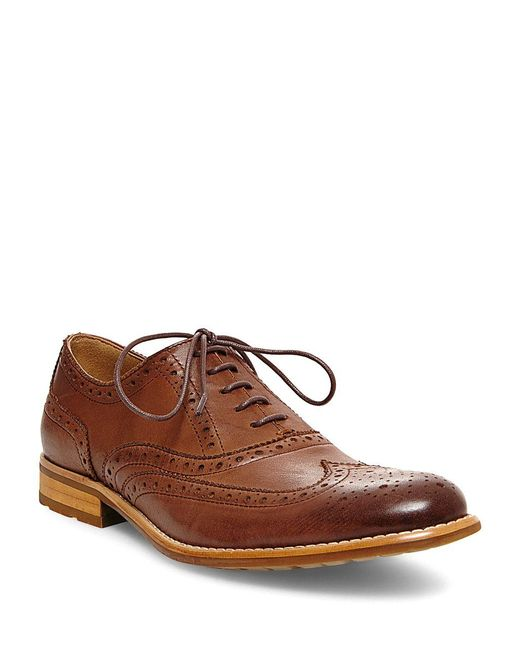 Steve Madden | Brown Gionni Leather Wingtip Oxfords for Men | Lyst