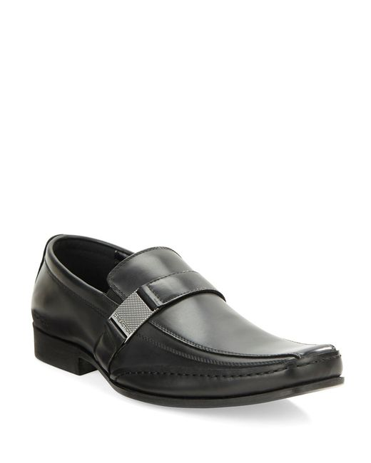 Kenneth Cole Reaction | Black Money Down Bicycle Toe Loafers for Men | Lyst