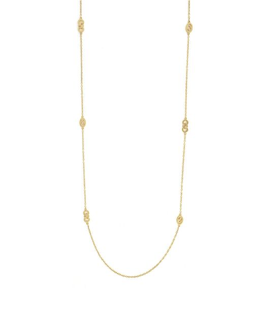 Cole Haan | Metallic Signature Metal Logo Station Necklace | Lyst