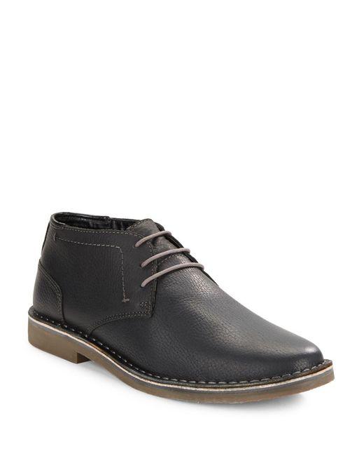 Kenneth Cole Reaction | Black Desert Leather Chukka Boots for Men | Lyst