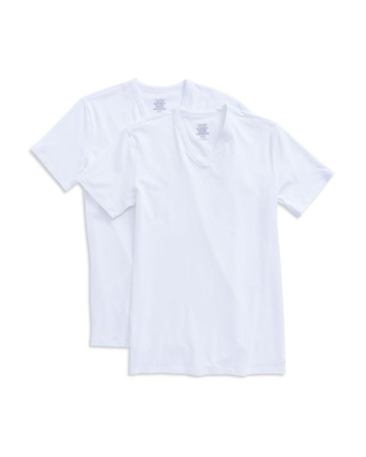 Calvin Klein | White 2-pack Stretch Cotton Tee for Men | Lyst