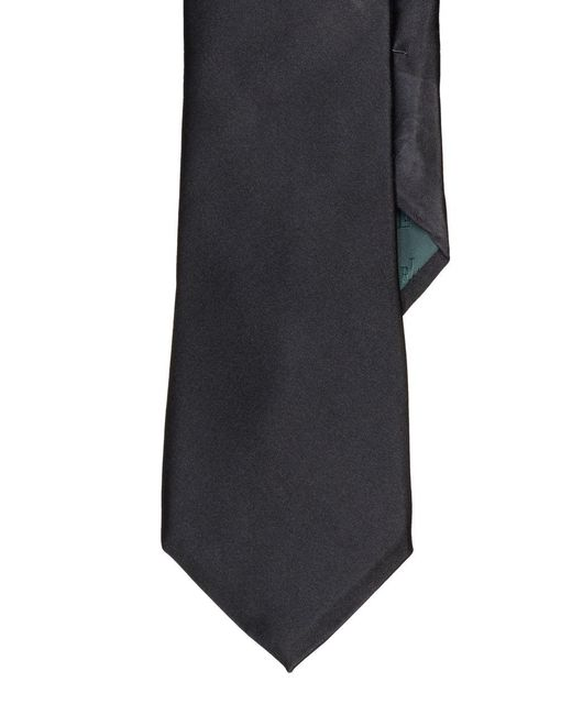 Lauren by Ralph Lauren | Black Solid Silk Tie for Men | Lyst