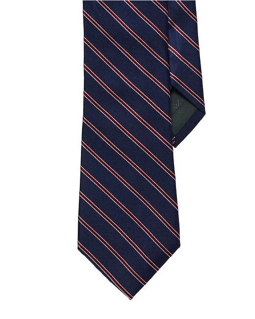 Lauren by Ralph Lauren | Blue Striped Silk Twill Tie for Men | Lyst