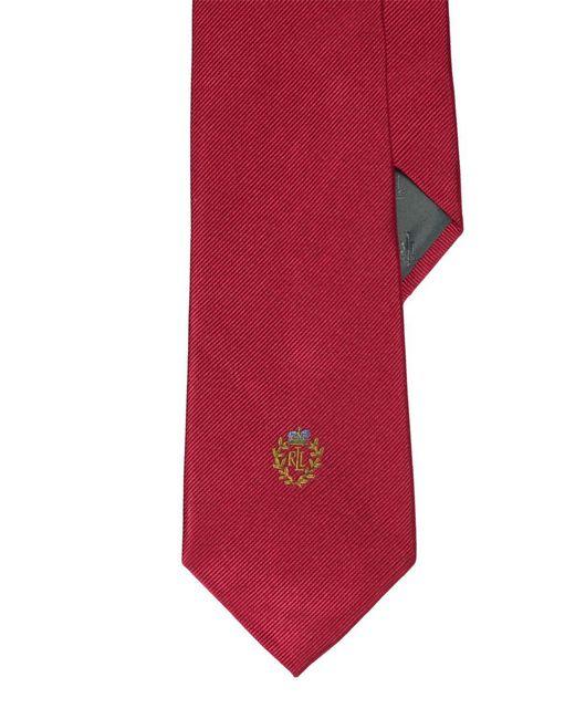 Lauren by Ralph Lauren | Red Signature Crest Silk Tie for Men | Lyst