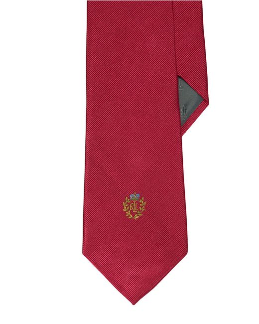 Lauren by Ralph Lauren | Red Signature Crest Silk Tie for Men | Lyst