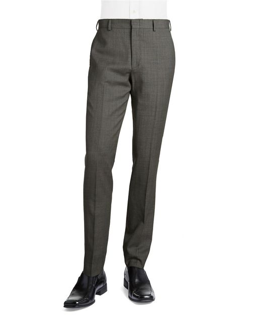 Bensol | Gray Wool Birdseye Pants for Men | Lyst