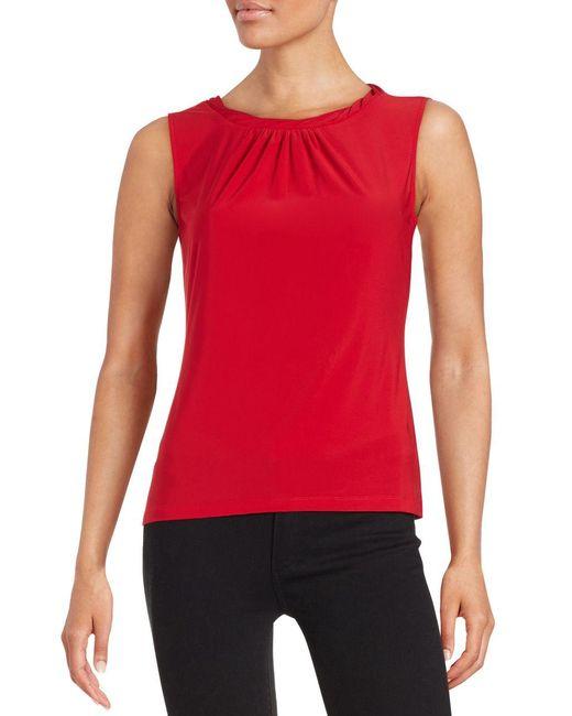 Tahari | Red Petite Sleeveless Top | Lyst