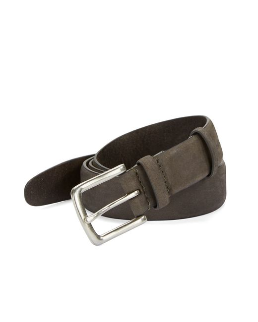 John Varvatos | Gray Burnished Leather Belt for Men | Lyst