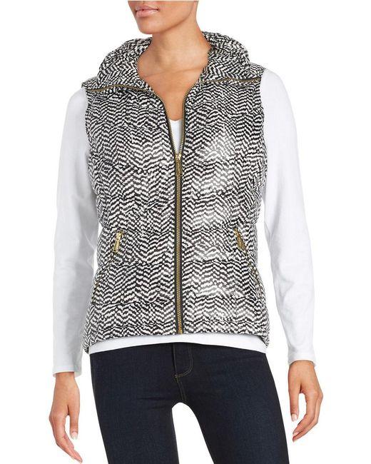 Calvin Klein | Black Printed Puffer Vest | Lyst