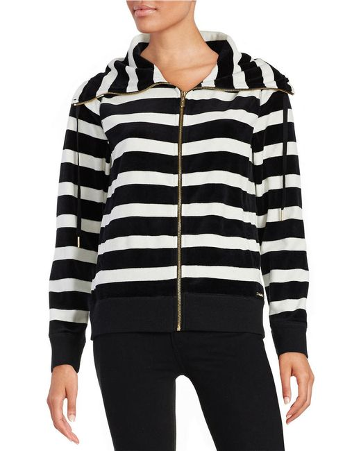Calvin Klein | White Striped Funnelneck Jacket | Lyst