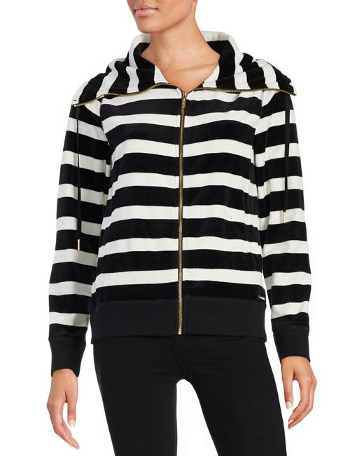 Calvin Klein | White Striped Funnelneck Jacket | Lyst