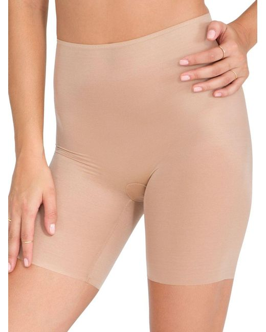 Spanx | Natural Skinny Britches Mid-thigh Shorts | Lyst