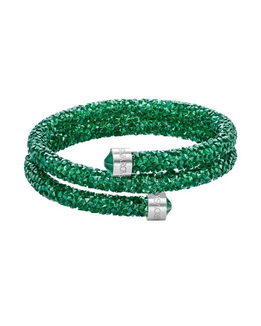Swarovski | Green Crystal-accented Wrap Bracelet | Lyst