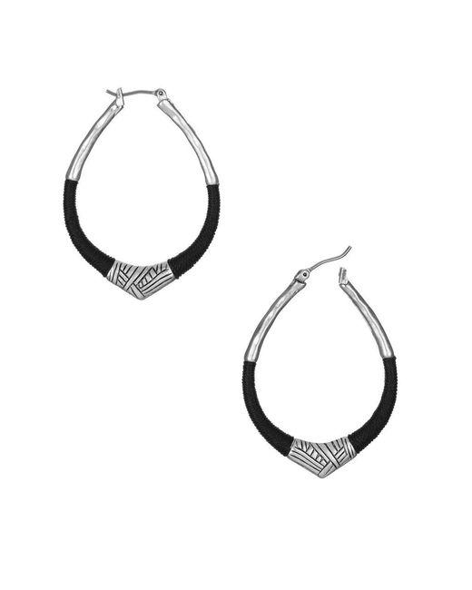 The Sak | Black Thread Wrapped Hoop Earrings | Lyst