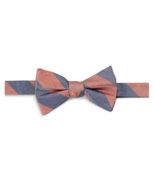 Cole Haan | Orange Striped Silk Bow Tie for Men | Lyst