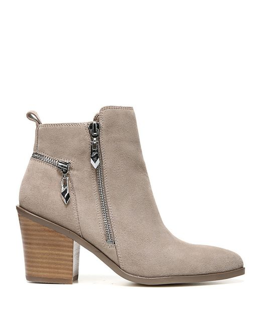 fergie suede ankle boots in multicolour lyst