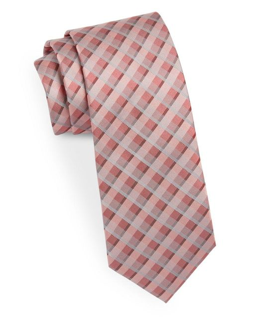 Calvin Klein | Pink Narrow Silk Tie for Men | Lyst