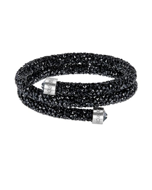 Swarovski | Black Crystaldust Collection Slip-on Bangle | Lyst