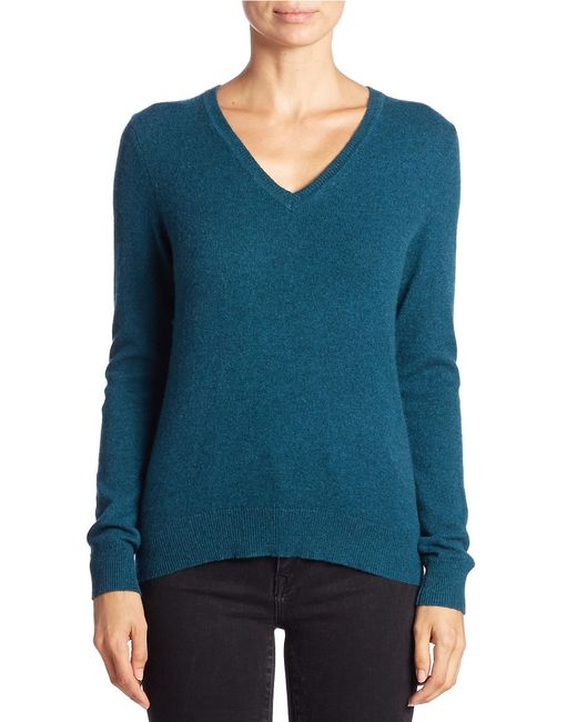 Lord & Taylor | Blue V-neck Cashmere Sweater | Lyst