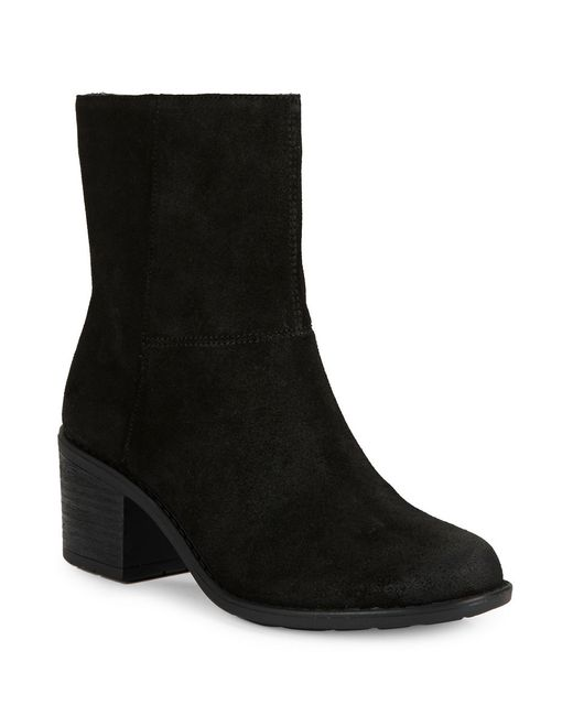easy spirit ilsa suede ankle boots in black lyst