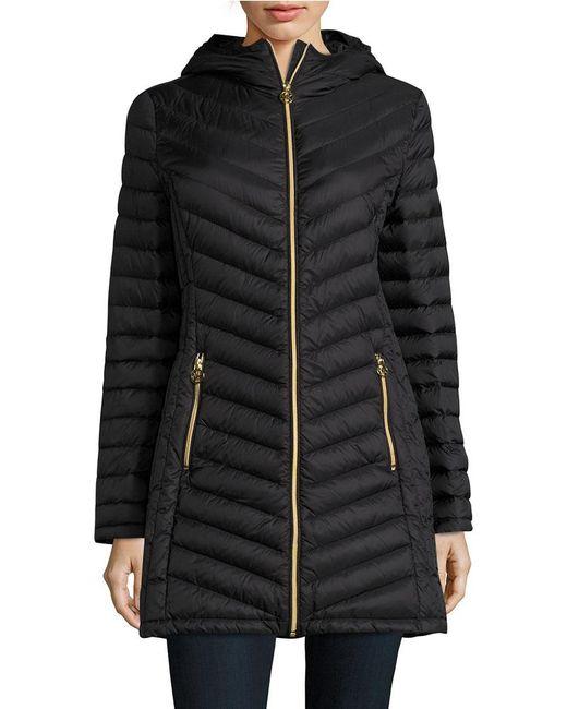 Michael Michael Kors Packable Down Puffer Coat In Black Lyst