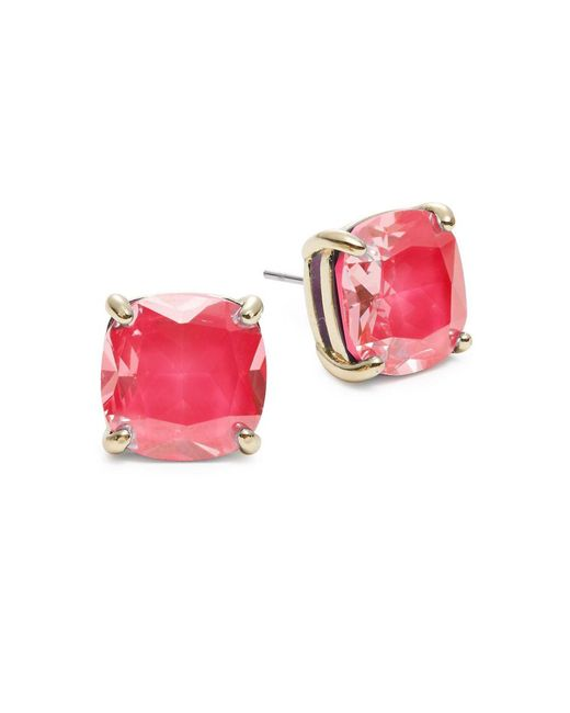 kate spade new york Pink Small Square Stud Earrings