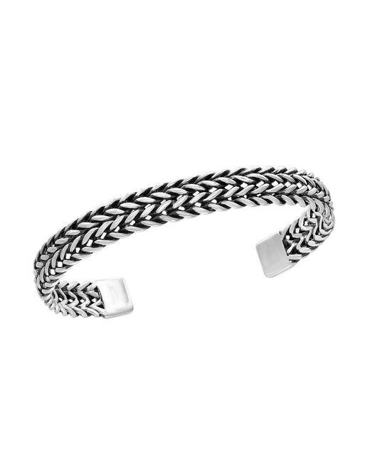 Effy | Metallic 0.925 Sterling Silver Woven Cuff Bangle | Lyst