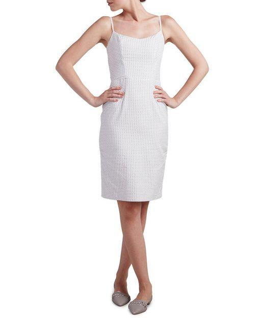 Paper Crown   White Printed Sheath Dress   Lyst