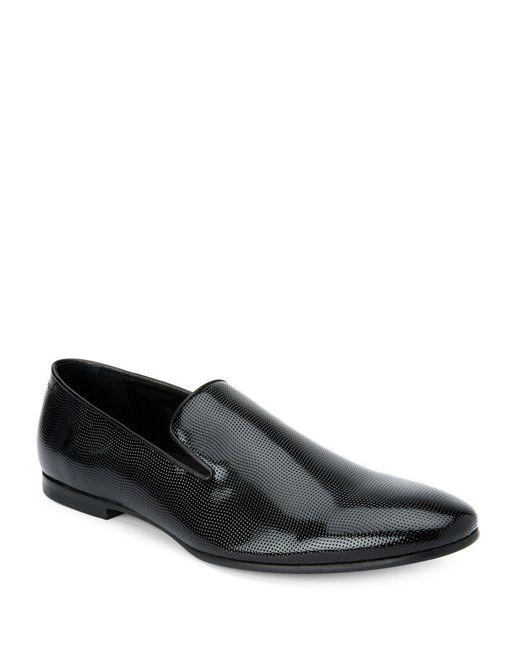 calvin klein navian toe slip on dress shoes in black