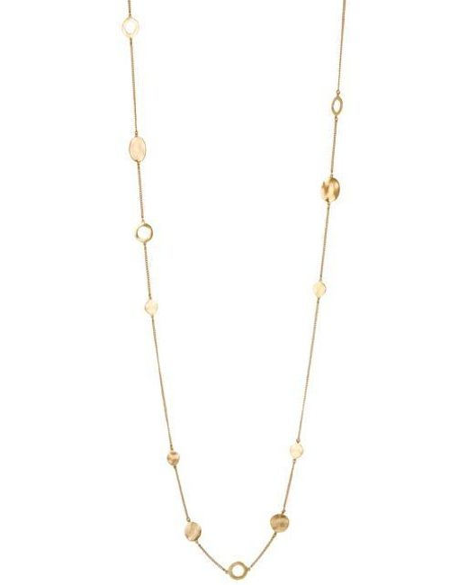 Kenneth Cole | Metallic Necklace, Gold-tone Circular Station Long Necklace | Lyst