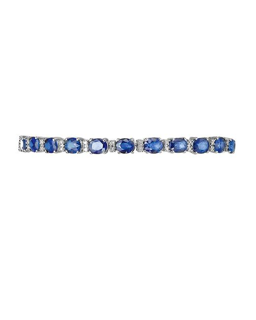 Effy | Blue Royale Bleu Sapphire, Diamond And 14k White Gold Bracelet | Lyst