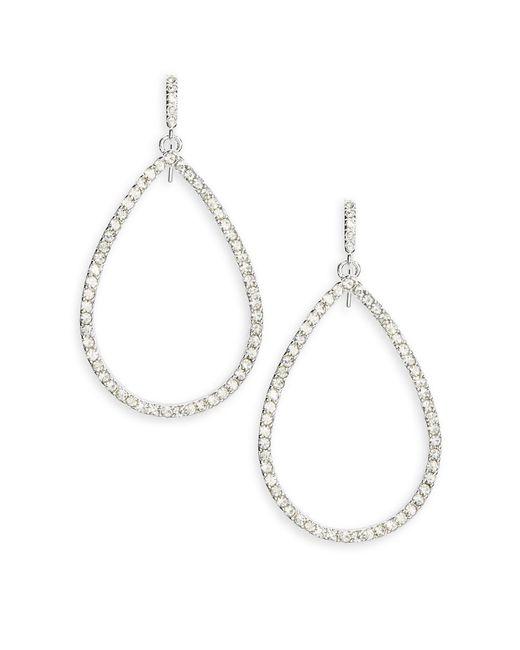 Lauren by Ralph Lauren | Metallic Glitz Teardrop Hoop Earrings - 1 In. | Lyst