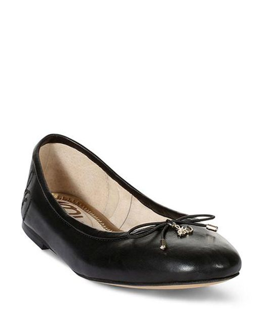 Sam Edelman   Black Felicia Leather Flats   Lyst