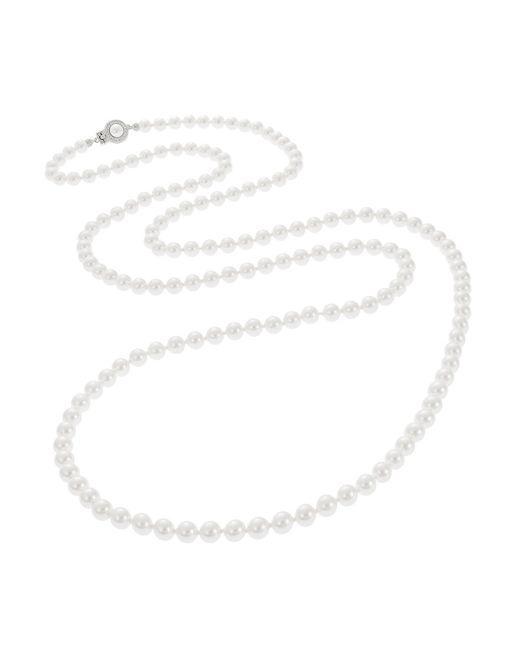 Nadri | White Faux Pearl Opera Necklace | Lyst