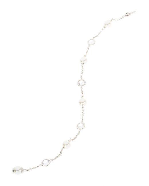 Nadri | White Pearl Chain Link Bracelet | Lyst