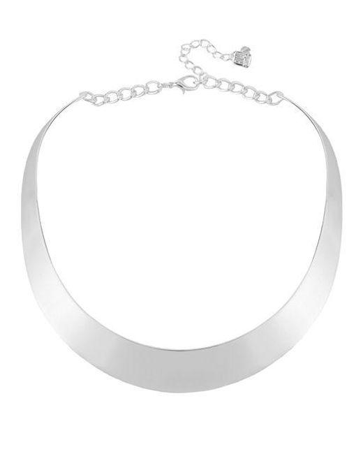 Robert Lee Morris | Metallic Silvertone Half Moon Collar Necklace | Lyst