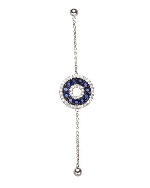 Effy | Blue Sapphire, Diamond And 14k White Gold Bracelet | Lyst