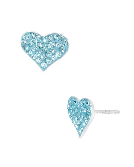 Betsey Johnson | Blue Heart Stud Earrings | Lyst