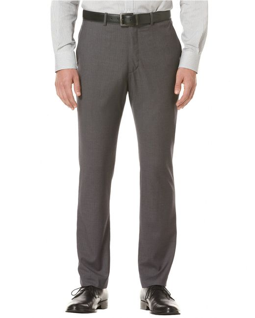 Perry Ellis | Gray Travel Luxe Slim-fit Dress Pants for Men | Lyst