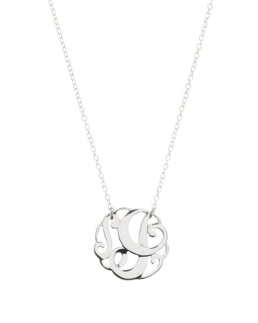Lord & Taylor | Metallic Sterling Silver I Initial Pendant Necklace | Lyst