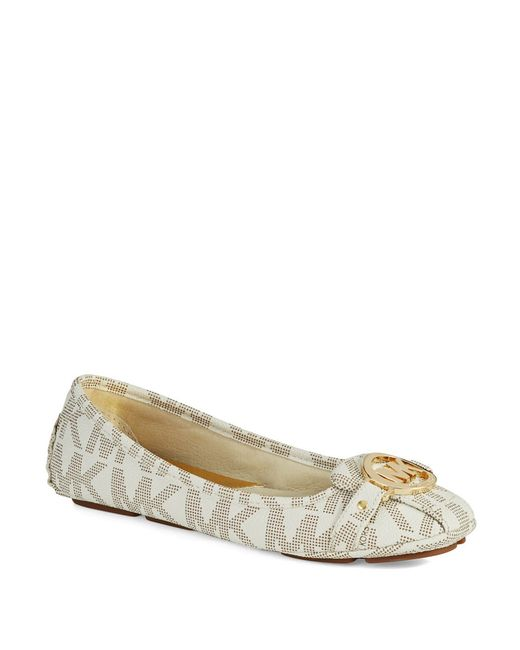 MICHAEL Michael Kors | White Fulton Moccasin Flats | Lyst