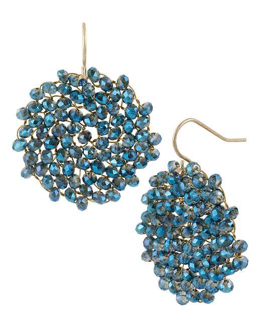Kenneth Cole | Blue Gemstone Pendant Drop Earrings | Lyst