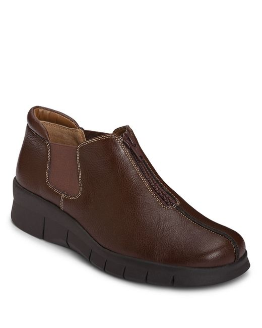 Aerosoles | Brown Synthetic Leather Sport Wedge Booties | Lyst