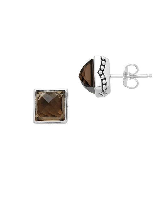 Lord & Taylor | Metallic Sterling Silver Smokey Quartz Earrings | Lyst