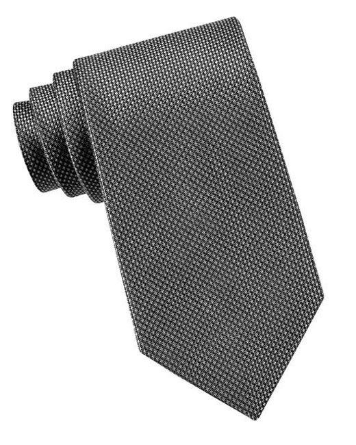 MICHAEL Michael Kors | Black Sorento Silk Tie for Men | Lyst
