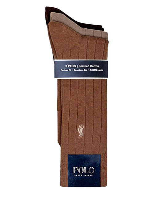 Polo Ralph Lauren | Multicolor Ribbed Socks/3-pack for Men | Lyst