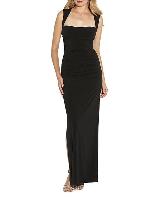 Laundry by Shelli Segal | Black Jersey Crossback Dress | Lyst