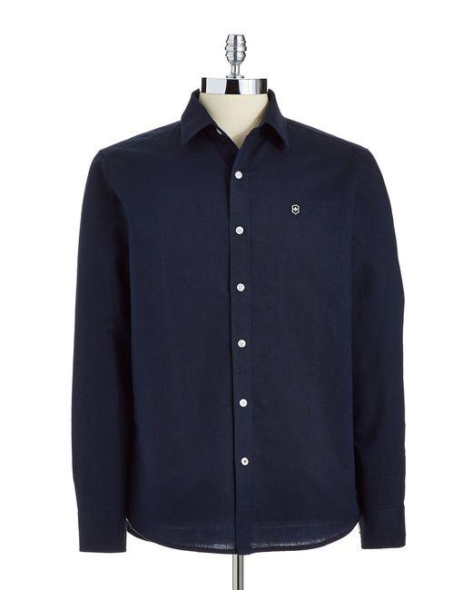 Victorinox | Blue Tailored-fit Villamont Sportshirt for Men | Lyst