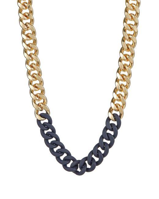 ABS By Allen Schwartz | Blue Chain-link Collar Necklace | Lyst